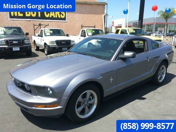 2006 FORD MUSTANG V6 PREMIUM 1-OWNER CLEAN TITLE & CARFAX LOW MILES!!!