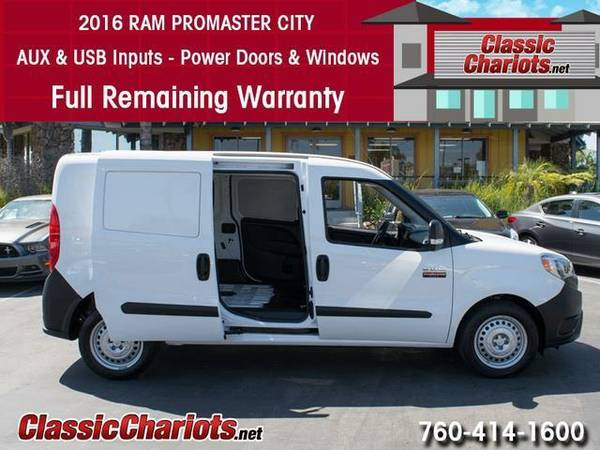 2016 *Ram* *ProMaster* *City* *Cargo* *Van* *Remaining* *Warranty*