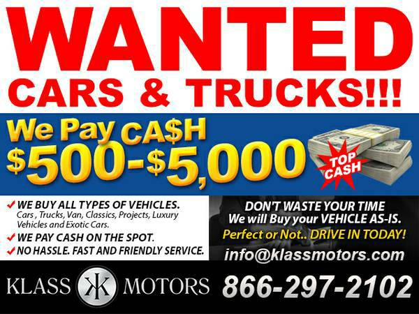 WANTED: Cars, Trucks, Suv *nissan* *frontier*