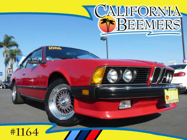 1985 BMW 635 CSI Sport Package Cinnabar Red