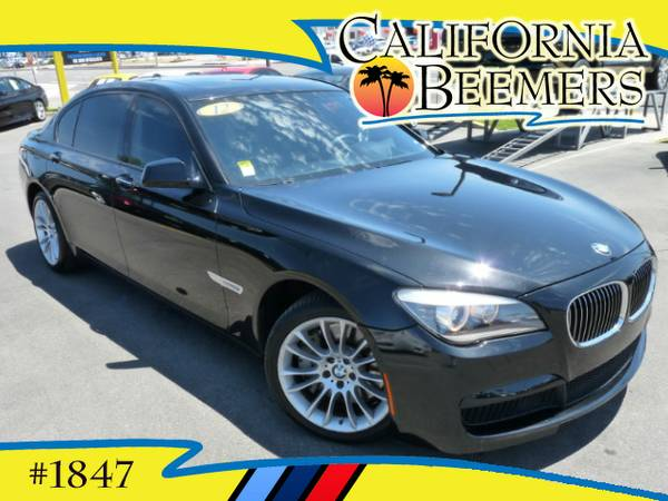 2012 BMW 750Li M Sport, Rear Entertainment Black Sapphire Metalic