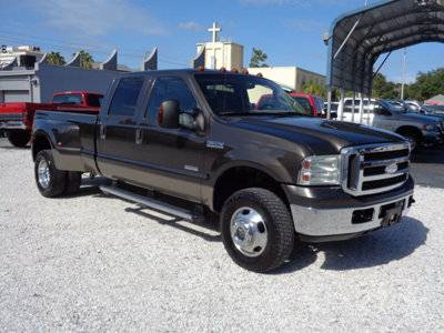 2005 FORD F350 4X4 CREW LARIAT LEATHER ALLOYS NICE TRUCK FL