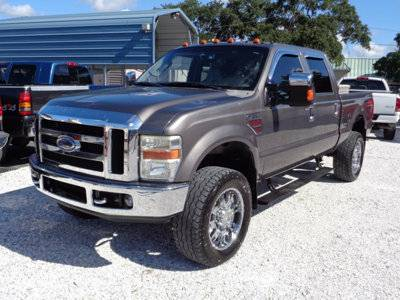 2008 FORD F250 LIFTED LARIAT CREW 20s ALLOY 4X4 DIESEL