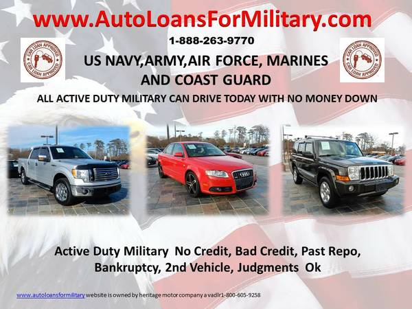 1st Time Buyers,MILITARY $O DOWN FINANCING!_Good/Bad/No Credit -ALL OK