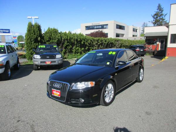 2008 Audi A4 Quattro S-Line Sedan-Black on Black! Loaded!