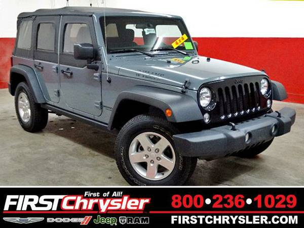 2014 *Jeep Wrangler Unlimited* Sport-4x4 - Jeep Anvil Clear Coat