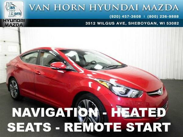 2016 *Hyundai Elantra* Sport LTHR NAV ROOF - Scarlet Red Pearl BAD...