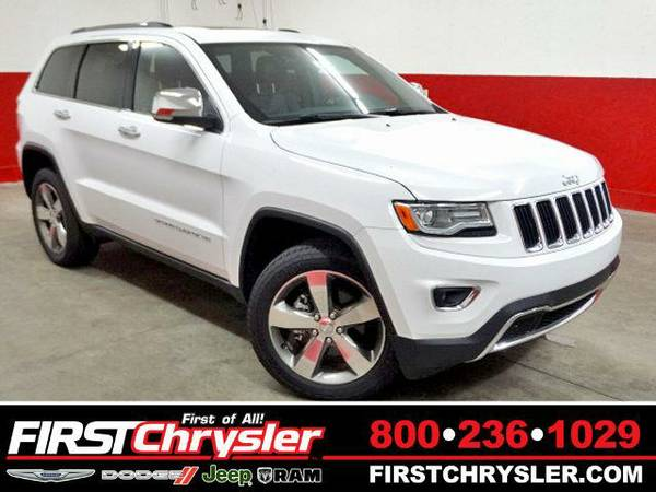 2015 *Jeep Grand Cherokee* Limited-4x4 - Jeep Bright White Clearcoat
