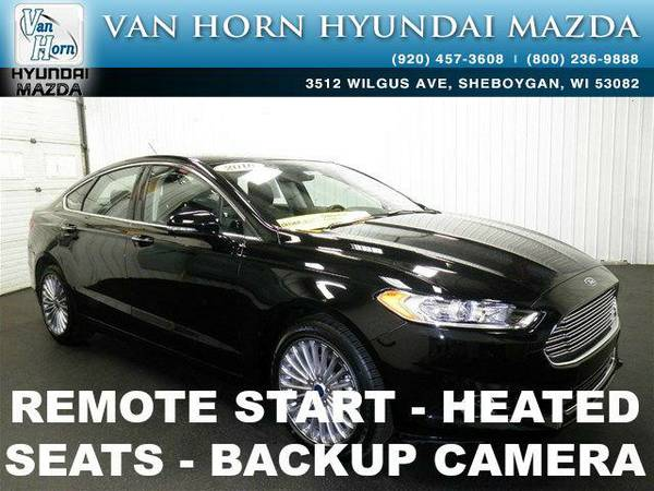 2016 *Ford Fusion* Titanium LTH - Shadow Black BAD CREDIT OK!