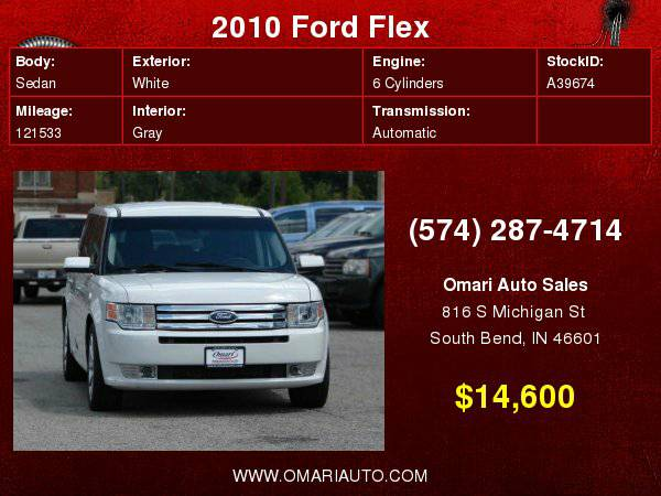 2010 Ford Flex 4dr SEL AWD w/Ecoboost . Repo? Bad Credit? NO PROBLEM