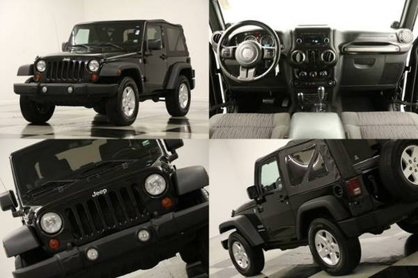 *SPORTY Black WRANGLER - CLEAN HISTORY* 2011 Jeep *AUX - POWER OPTION