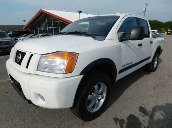 NISSAN TITAN AND TOYOTA TUNDRA CREWMAX 4X4 in stock We Finance