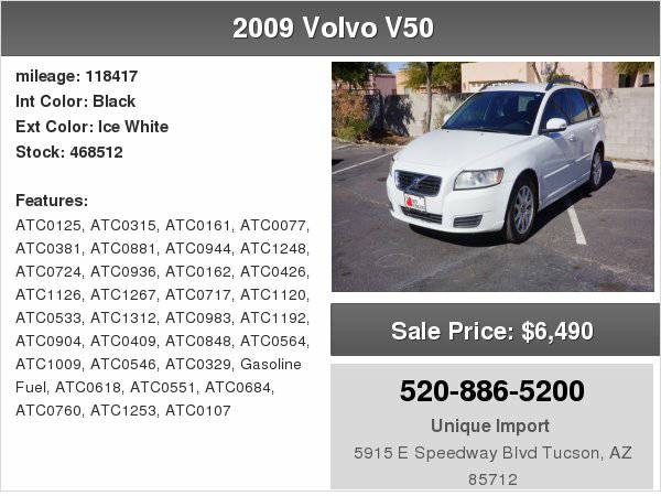 2009 Volvo V50 2.4L Unique Imports
