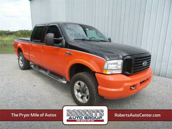 2004 *Ford F-250SD* Harley-Davidson - Ford Black Clearcoat/ Orange