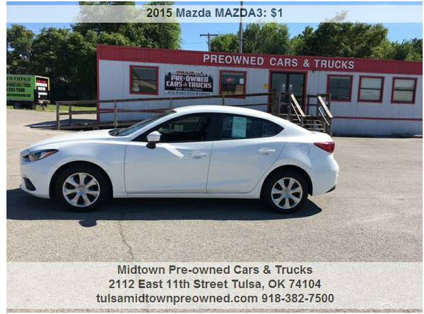 2015 MAZDA3.....WE ACCEPT ANY TRADE & WORK WITH ANYONE