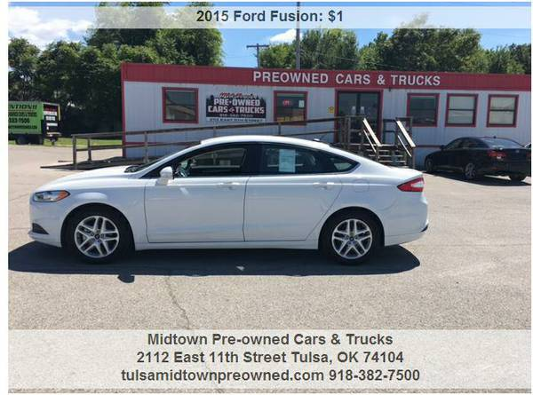 2015 ford fusion .....WE ACCEPT ANY TRADE & WORK WITH ANYONE