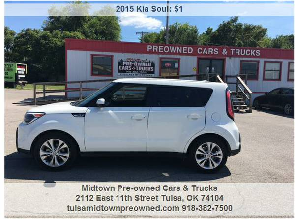 2015 KIA SOUL .....WE ACCEPT ANY TRADE & WORK WITH ANYONE