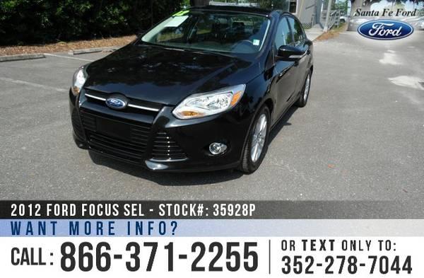 *** 2012 Ford Focus SEL *** Preowned Car - Flex Fuel - SYNC