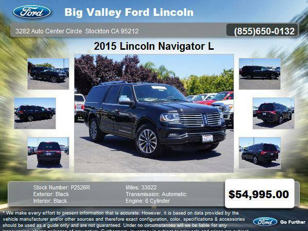 2015 Lincoln Navigator L 4x4 4dr SUV 4DR 4WD SELECT