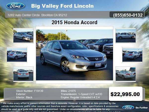 2015 Honda Accord LX 4dr Sedan CVT LX