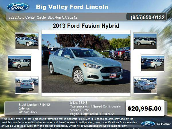 2013 Ford Fusion Hybrid SE 4dr Sedan SE Hybrid