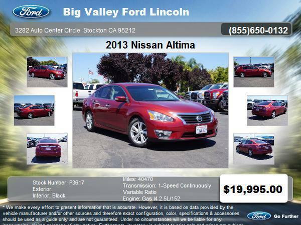 2013 Nissan Altima 2.5 SL 4dr Sedan w/production end Nov. 2012 2.5 SL