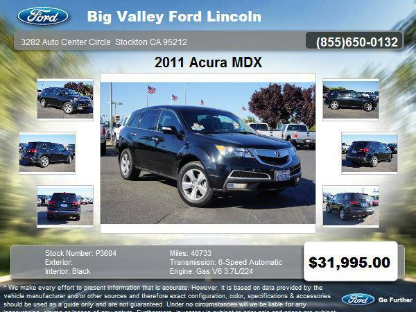 2011 Acura MDX SH-AWD 4dr SUV w/Technology Package 3.7L Technology...