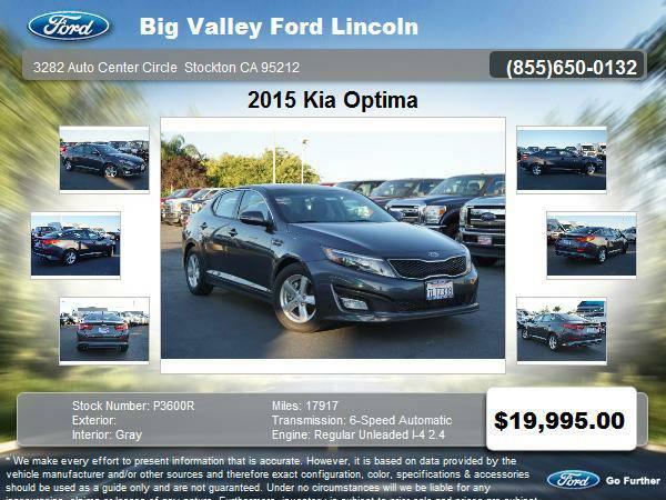 2015 Kia Optima LX 4dr Sedan LX