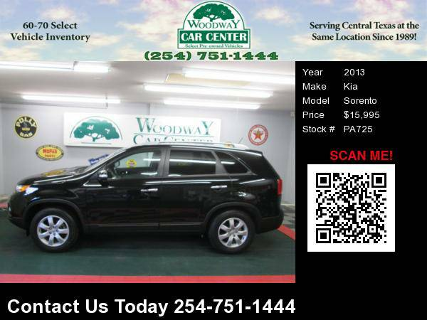 2013 Kia Sorento LX; 3rd Row; 47K Miles, Reduced !!