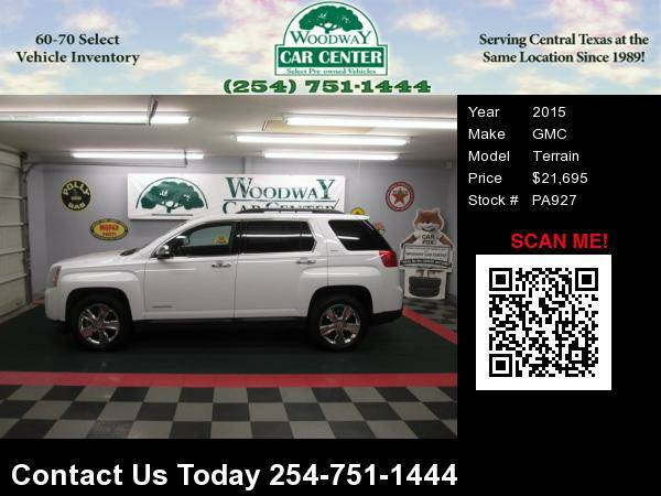 2015 GMC Terrain SLT, 1 Owner, Leather, Nav. 46K Factory Warranty!!!