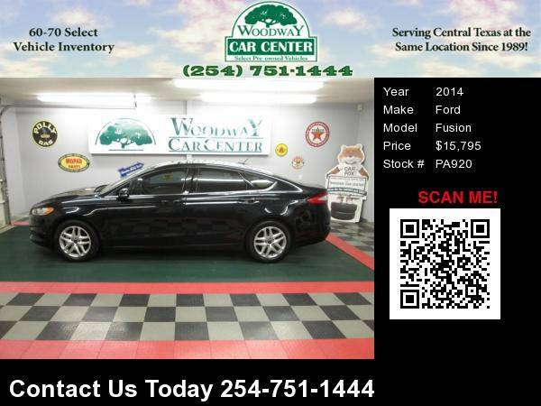 2014 Ford Fusion SE - 25K Miles, 1-Owner, Factory Warranty !!