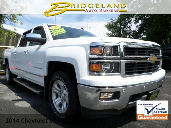 2014 Chevrolet Silverado 1500 LTZ CREW CAB LEATHER LOADED NEW BODY...