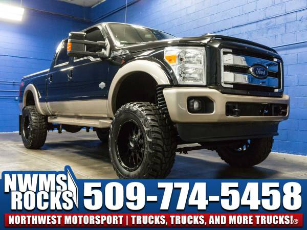 Lifted 2012 *Ford F250* Lariat 4x4 - OFF ROAD TIRES! 2012 Ford F-250...