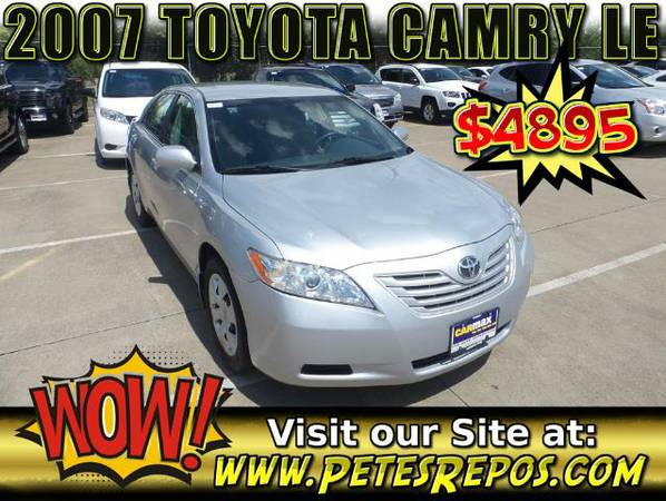2007 Toyota Camry LE - Clean Title - Toyota