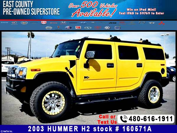 2003 HUMMER H2 CUSTOM WHEELS Stock #160571A