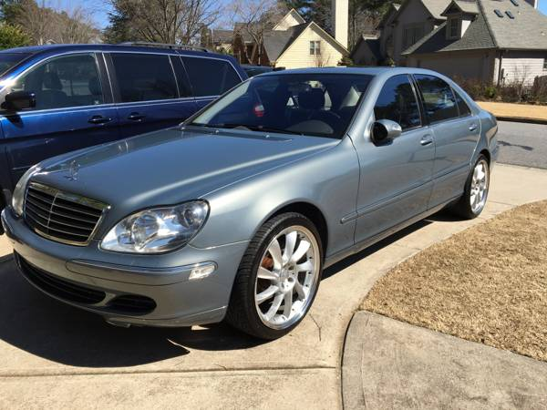 2005 Mercedes Benz S430 500 Lorenzo rims luxurious leather wood trim...