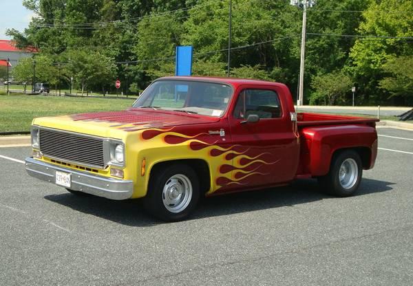 1976 Chevrolet C10 4 1/2 Chopped Custom stepside pickup