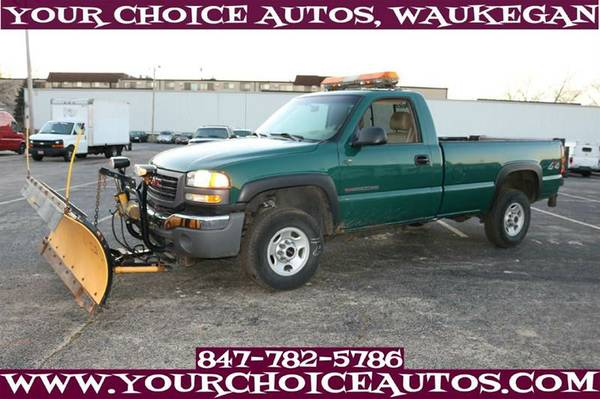 2003 GMC SIERRA 2500HD PLOW TRUCK 1OWNER LEATHER TOW GUD TIRES 147354