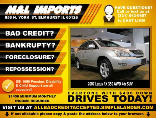 🌟2007 *Lexus RX* BAD CREDIT? Drive something NICE for $261/mo