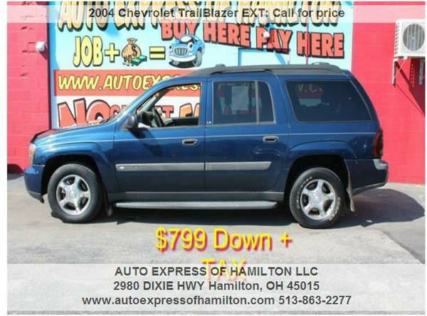 2004 Chevrolet TrailBlazer EXT $799 Down+TAX BUY HERE PAY HERE