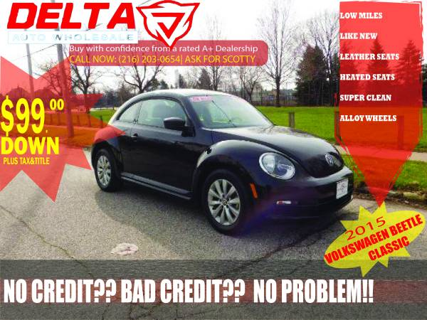 2015 Volkswagen Beetle: VISIT HERE TO SEE MORE CARS! $99 DOWN*!!
