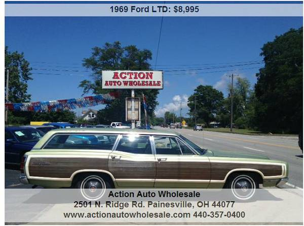 1969 Ford Country Squire Wagon 390 V8 Super Clean Rust Free