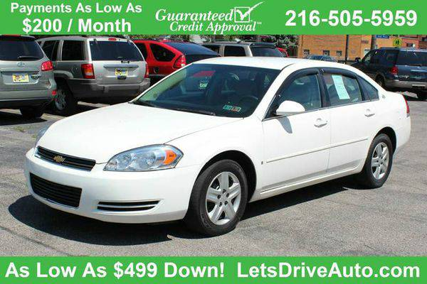 2007 *Chevrolet* *Impala* LS 4dr Sedan -BAD CREDIT NO PROBLEM!...