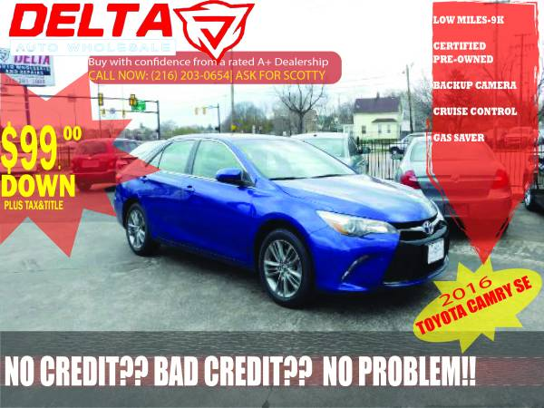 2016 Toyota Camry SE: VISIT HERE TO SEE MORE CARS! $99 DOWN*!!