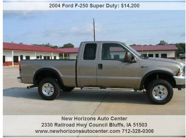 2004 Ford F-250 S D Diesel 4x4 Ext.Cab.Auto Pewter 6.0L(SHARP)