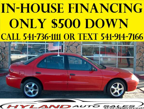 2004 CHEVROLET CAVALIER - HYLAND AUTO SALES MAKES BUYING EASY