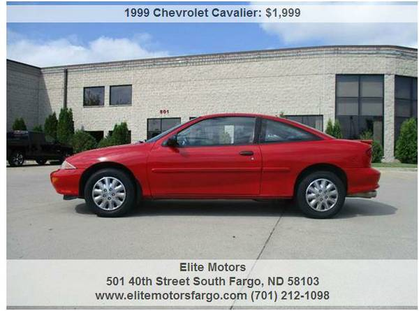 1999 Chevrolet Cavalier, LS, 2-Door, 5-Speed, Good Runner, No Rust!