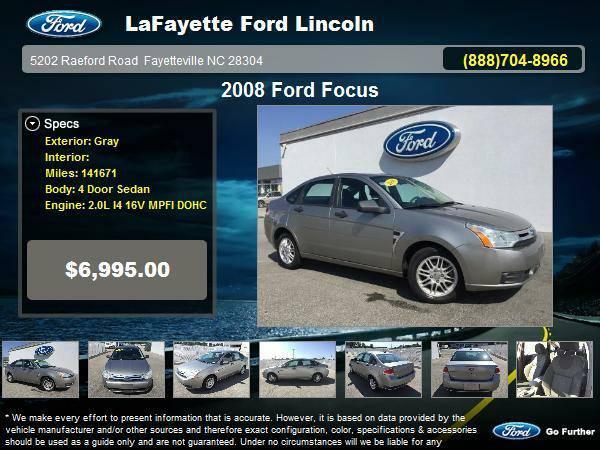 2008 Ford Focus 4 Door Sedan Gray