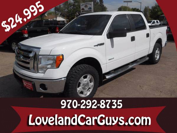 2012 Ford F150 Crew Cab XLT 4x4 Eco Boost Automatic 70k Miles