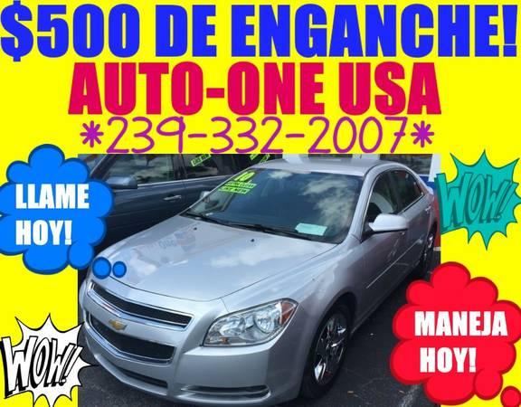 2010 CHEVY MALIBU LT*SOLO $500 DE ENGANCHE!*MANEJA HOY!*LLAME HOY!